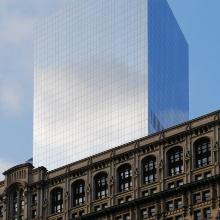 Ansicht eines Alt- und Neubaus