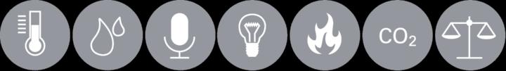 Icons der Teilgebiete der Bauphysik (c)